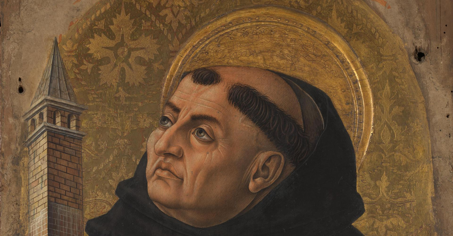 Carlo Crivelli: Thomas von Aquin – Altartafel (1476) – National Gallery, London