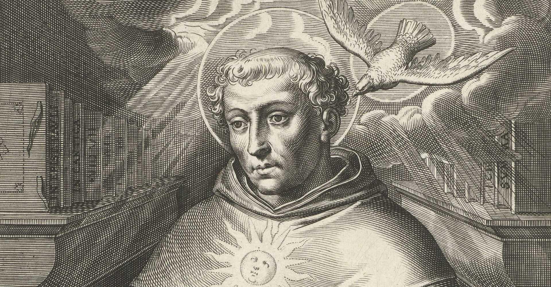 Cornelis Boel: Thomas von Aquin – (Stich 1610)– Rijksmuseum, Amsterdam