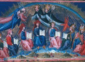 Giovanni di Paolo: Die Lehrer der Weisheit im Paradies (Illustration 1442–1450 zu Dantes »Divina Commedia, Paradiso, Canto X«)