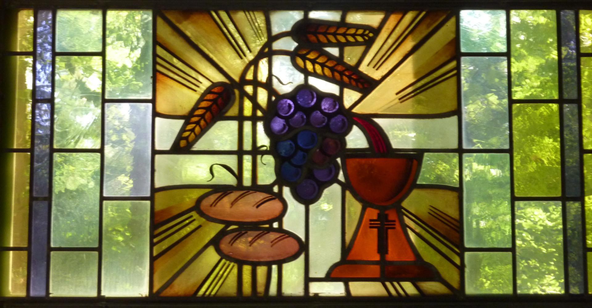 Kirchenfenster – Brot und Wein