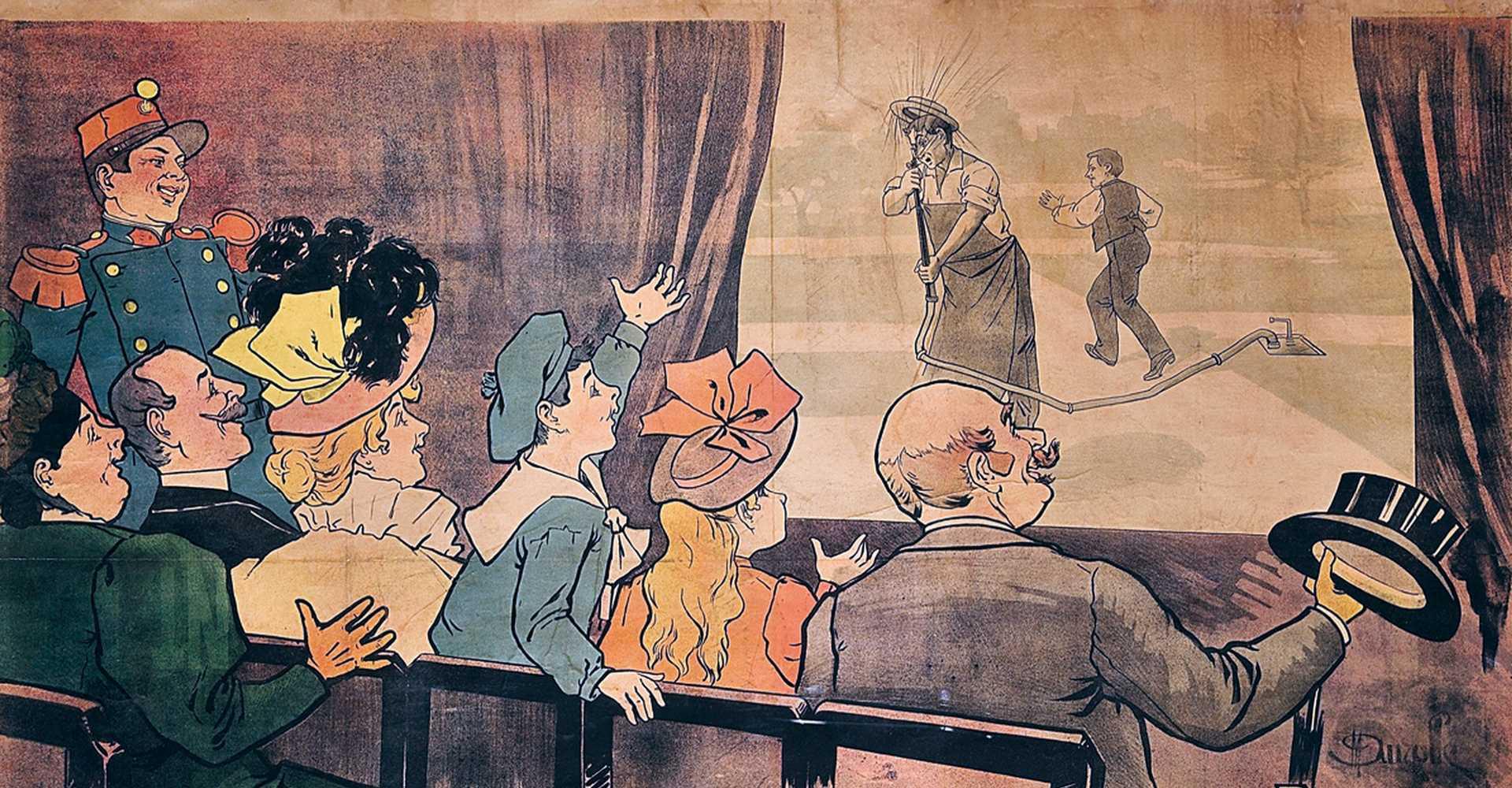 Eines der ersten Filmplakate der Gebrüder Lumière