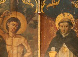Thomas von Aquin neben dem hl. Sebastian – Basilika St. Maximin, Departement Var