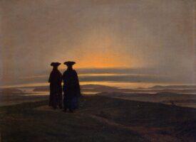 Caspar David Friedrich: Sonnenuntergang (Brüder) – Eremitage, Sankt Petersburg
