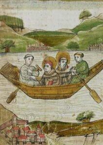 Columban und Gallus auf dem Bodensee