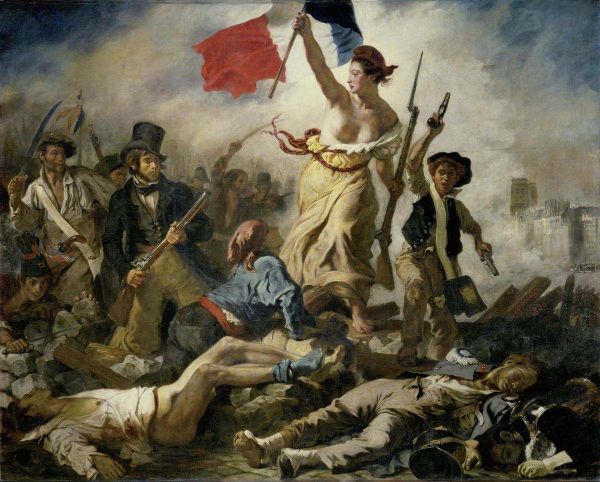 »Sentimantalkunst« der Spätromantik – Eugène Delacroix: Die Freiheit führt das Volk (1830)