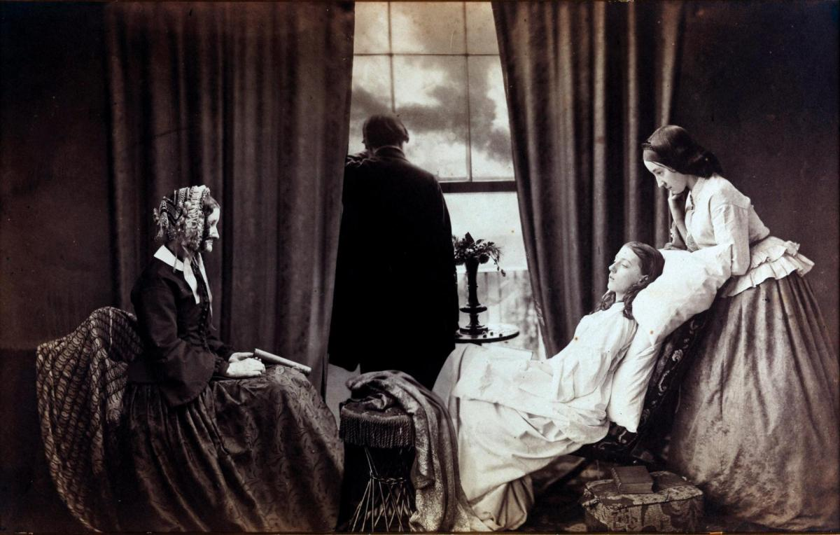 Arrangement und Positur in der Photographie des Pictorialismus – Henry Peach Robinson: Fading Away (1858)