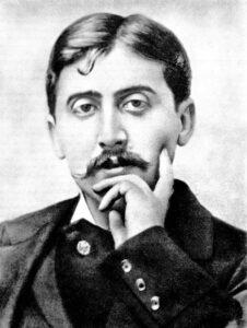 Müde Augen, schwere Lider, welch ein Blick. Marcel Proust um 1900.