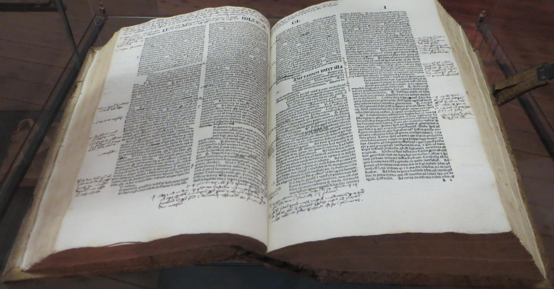Ausgabe der Summa Theologica 1486 - Francisceumsbibliothek, Zerbst