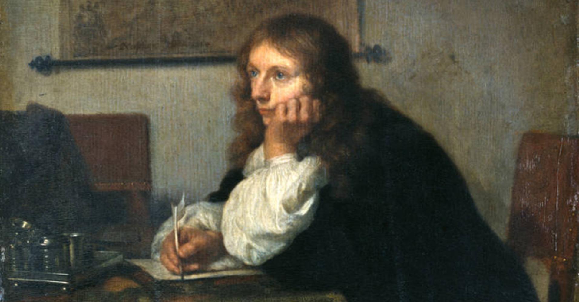 Caspar Netscher: Der Briefschreiber – Gemäldegalerie Alte Meister, Dresden