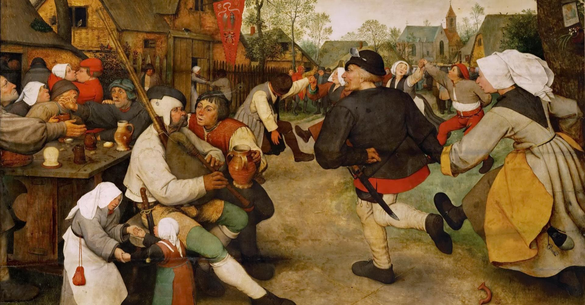Pieter Bruegel d. Ä.: Der Bauerntanz – Kunsthistorisches Museum, Wien
