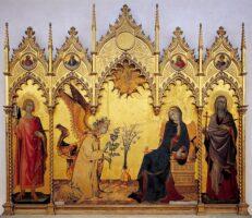 Simone Martini: Verkündigungstriptychon – Uffizien, Florenz