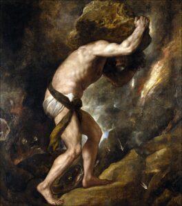 Tizian: Die Bestrafung des Sisyphos