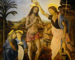 Verrocchio und Leonardo: Die Taufe Christi